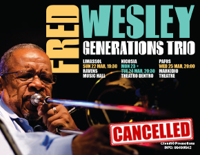 FRED WESLEY - FOUR SHOWS IN CYPRUS